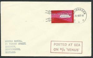 NORWAY 1967 cover MS VENUS ship cachet - GEIRANGER pmk.....................39899