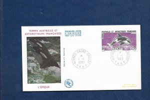 FRENCH ANTARCTIC 1993 ORCA FDC
