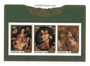 Cook Islands 1986 Christmas Paintings by Rubens S/S MNH C2