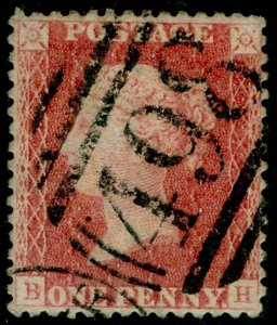 SG38, 1d pale red PLATE 62, LC14, USED. Cat £35. BH