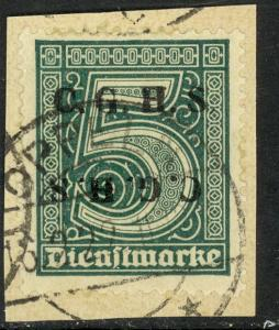 UPPER SILESIA 1920 5pf Official C.G.H.S. Horizontal Double 1 INVERTED on Piece