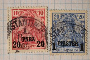Germany Turkey offices abroad 26, 27 used 20 para 1 piaster cv$26.25