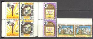 ZANZIBAR Sc# 301 - 304 MNH FVF Set4 x Pair Sun Church Mosque