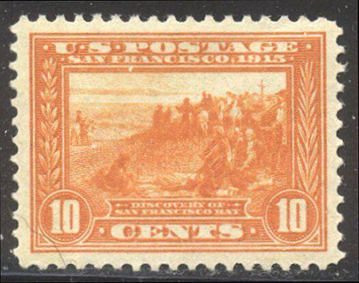 U.S. #400A Mint XF NH - 1913 10c Pan-Pacific, Orange