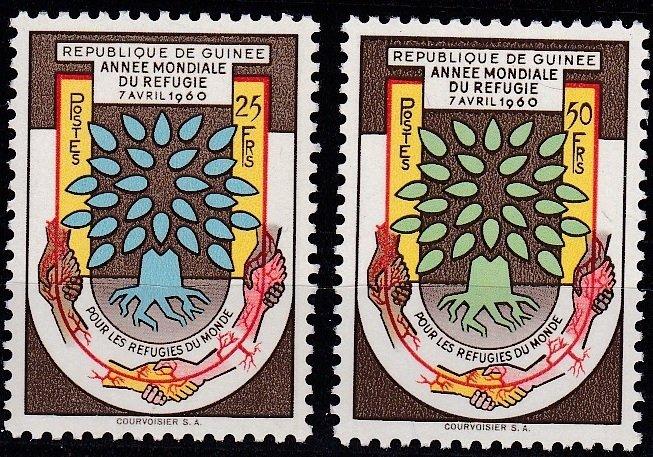 Guinea MNH 194-5 World Refugee Year