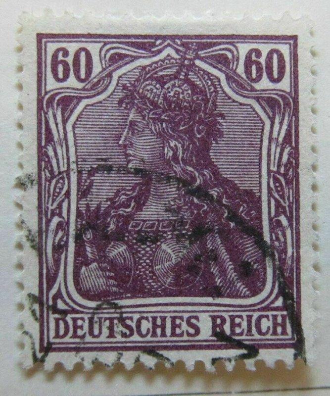 A6P44F41 Germany 1905 Wmk Lozenges 60pf Krieg used