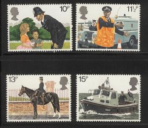 Great Britain MNH 875-8 London Metro Police 1972