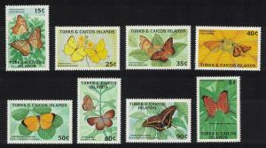 Turks and Caicos Butterflies 8v SG#1019-1026
