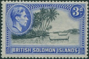 Solomon Islands 1939 SG65 3d Roviana Canoes MH
