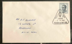 1969 Woomera Australia Rocket Mail First Day Cover FDC To Petersham NSW Europa 1