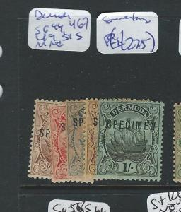 BERMUDA (PP3012B) BOAT SG44, 46-7, 49, 51S SPECIMEN MOG, BIT TONED