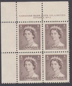 Canada - #325 QE II Karsh Portrait Plate Block #2 - MNH