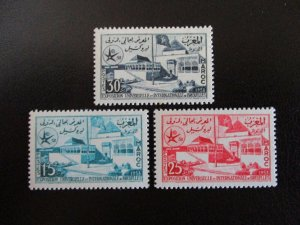 Morocco #22-24 Mint Never Hinged (L7H4) WDWPhilatelic