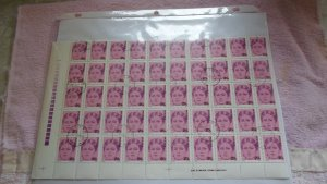 PARICIAL SHEET OF POLAND STAMPS ( 50 stamps )