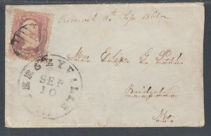 US Sc 64 pink used on 1861 small Lady's Envelope, PF Cert