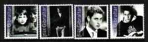 Gibraltar-Sc#942-5-unused NH set-Prince William-21st birthday-Princess Diana-200