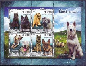 Sao Tome and Principe. 2008. 3707-14. Dogs. MNH.