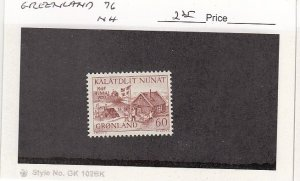 J25750  jlstamps 1970 greenland set of 1 mnh #76 all checked