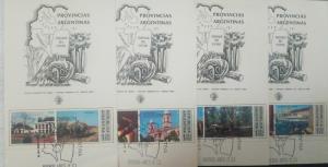 O) 1975 ARGENTINA, TOURIST PUBLICITY - PROVINCES, ARCHITECTURE- LANDSCAPE, FDC X