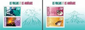 Niger - 2013 -Volcanoes and Minerals-2 Sheets of 2 Stamps Each 14A-250