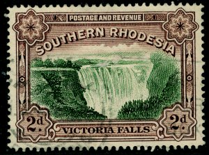 SOUTHERN RHODESIA SG29, 2d green & chocolate, FINE USED.