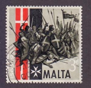 Malta  1965  used  Great Siege  3d.    #