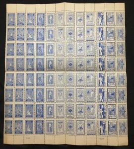 ESPERANTO Poster Labels Cinderellas War Sheet of 96 MNH (W 1613