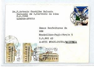 ANGOLA Cover *Lobito* Missionary Air Mail MIVA Austria 1992 {samwells} CM286