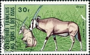 AFARS & ISSAS - 1973 - Yv.PA80 / Mi.77 20fr Oryx Beisa - Obl. B