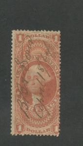 1862 United States Internal Revenue Mortgage Stamp #R73c Used Average