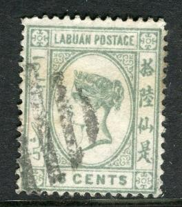 LABUAN; 1892-93 classic early issue fine used 16c. value