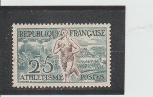 France  Scott#  701  MH  (1953 Track)