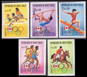1976 Upper Volta 617-621b 1976 Olympic Games in Montreal 20,00 €