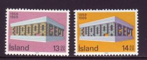 Iceland Sc 406-7 1969  Europa stamps mint NH