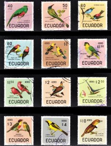 Ecuador Scott 751-51C, C441-48 complete set F to VF used.