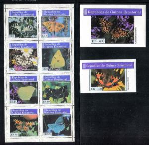 Equatorial Guinea MNH Insects Butterflies. x26071