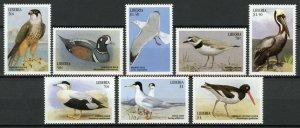 Liberia Birds on Stamps 1999 MNH Sea Birds Ducks Waders Terns Pelicans 8v Set