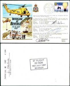 RD11a Interlude at Beverly 12-15 July 1987 Signed by All 3 Crew Members (B)