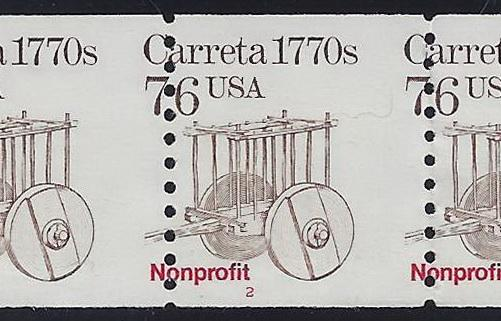 2255 Misperf Error / EFO PNC5 #2 Carreta Mint NH