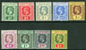 BRITISH VIRGIN ISLANDS-1913-19  A mounted mint set to 5/- Sg 69-77