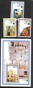 Netherland Antilles 825-828 MNH C/Set w/mini single Isreal 1998 issue