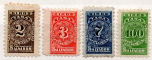 (I.B) El Salvador Revenue : Postal Order Tax Stamps Collection