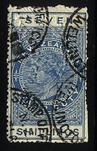 NEW ZEALAND 1880 Stamp Duty 7/- fine used..............................24782
