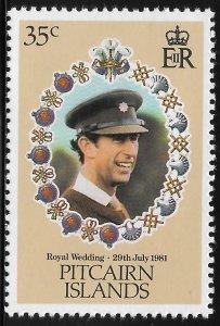 Pitcairn Island - SC# 207 - MNH - SCV$0.25 - Royal Wedding Charles and Diana
