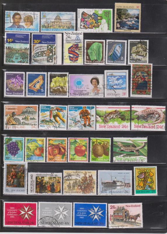 NEW ZEALAND  - Lot Of Used Issues 1980 to 2000 - Nice Stamps CV Over $130.00