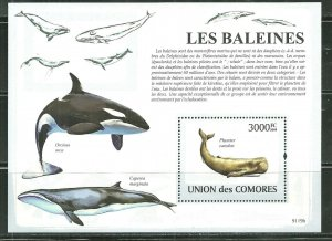 Comoro Islands MNH S/S Whales 2009