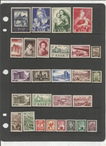 SAAR COLLECTION ON STOCK SHEET, ALL MINT