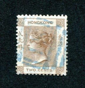 x556 - HONG KONG Sc# 8 QV 2c Brown Used. S1 Killer, Shanghai