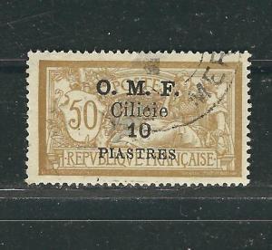 Cilicia 125f Yv 95 1 Pi on 50c Brown & Gray Used F/VF 1920 SCV $8.00
