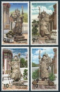 Thailand 1829-1832,1832a sheet,MNH. Chinese Stone Statues 1998.Warriors.